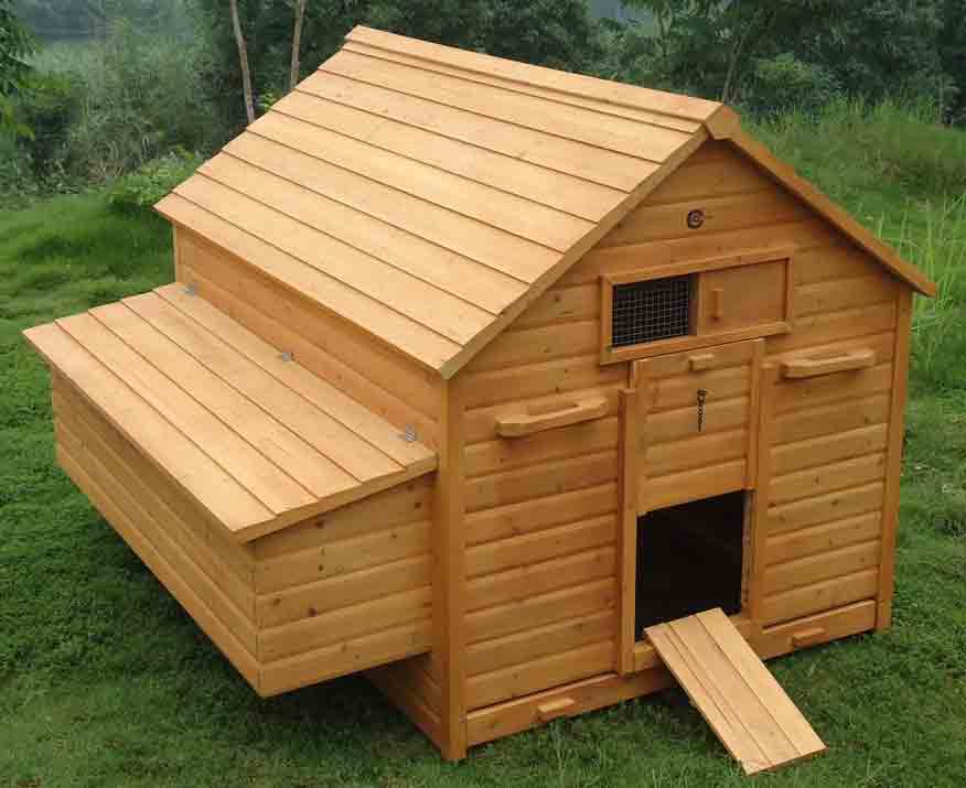 hen house chicken coop poultry ark home nest run coup in. Black Bedroom Furniture Sets. Home Design Ideas